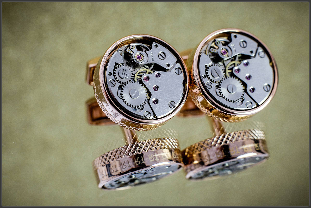 The grooms cuff links