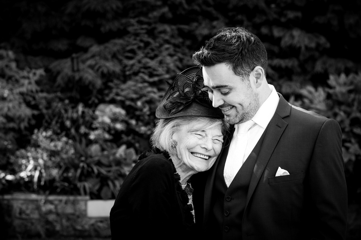 Groom and his grandmother