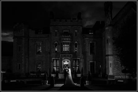 Rowton castle at night