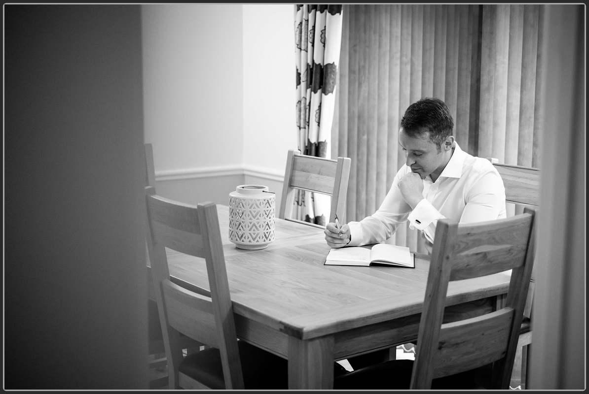 Best man writing his speech